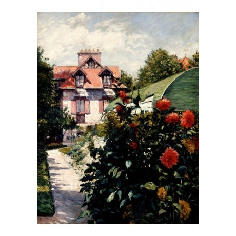 GUSTAVE CAILLEBOTTE Dahlias Art CANVAS EDITION new choose SIZE, from 55cm up