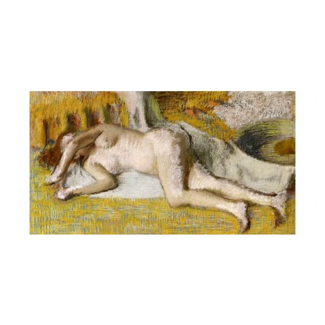 "EDGAR DEGAS ""After Bath I"" Nude Art CANVAS EDITION choose SIZE, from 55cm up"