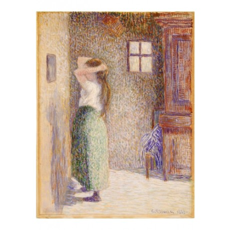 "CAMILLE PISSARRO ""Country Girl At Her Toilet"" ON CANVAS various SIZES, BRAND NEW"