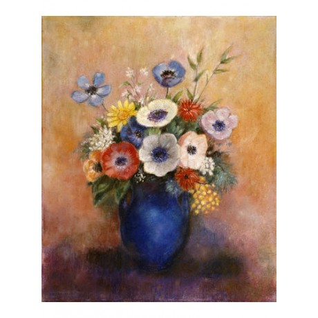 "ODILON REDON ""Flowers In A Blue Vase"" CANVAS EDITION various SIZES available"