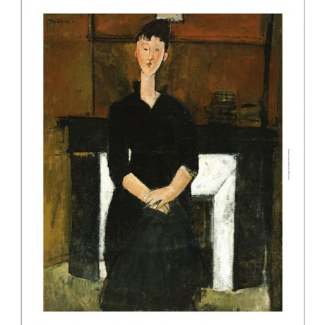 "AMEDEO MODIGLIANI ""Woman Sat By A Fireplace"" ON CANVAS various SIZES, BRAND NEW"