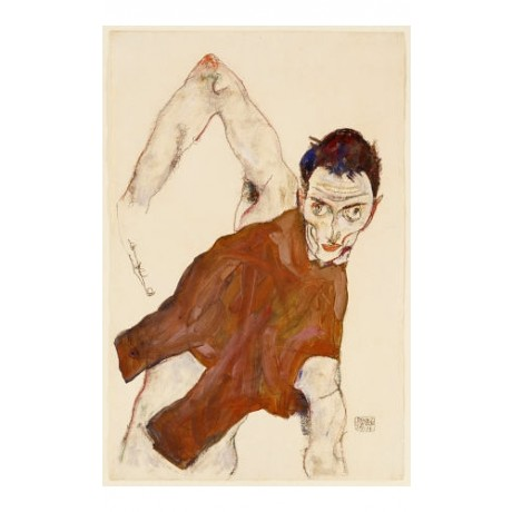 EGON SCHIELE Self Portrait Art CANVAS EDITION choose your SIZE, 55cm to X LARGE