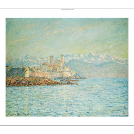 "CLAUDE MONET ""Old Fort At Antibes"" CANVAS EDITION choose SIZE, from 55cm up, NEW"