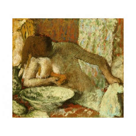 "EDGAR DEGAS ""Woman At Her Toilet"" Nude CANVAS ART ! various SIZES available"