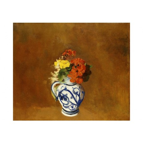 ODILON REDON Geraniums Still Art CANVAS EDITION choose SIZE, from 55cm up, NEW