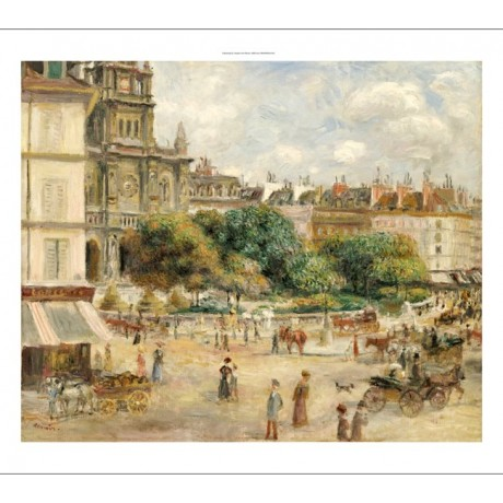 "PIERRE-AUGUSTE RENOIR ""Place De La Trinite"" Paris PRINT various SIZES, BRAND NEW"