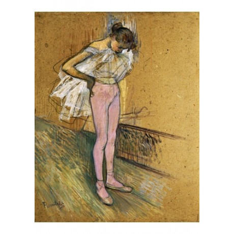 HENRI DE TOULOUSE-LAUTREC Dancer Adjusting Leotard ART various SIZES, BRAND NEW