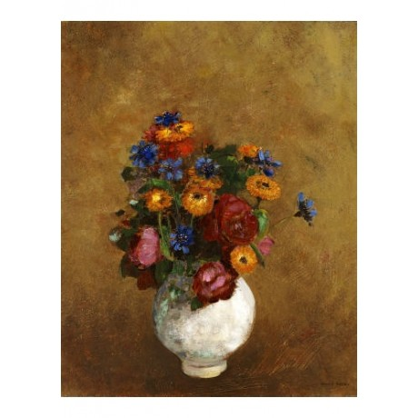 "ODILON REDON ""Flowers in White Vase"" Print various SIZES available"