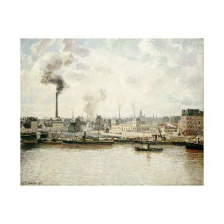 "CAMILLE PISSARRO ""Quay At Saint-Sever, Rouen"" PRINT various SIZES available, NEW"
