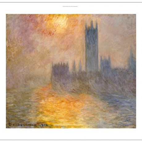 "CLAUDE MONET ""Parliament At Sunset"" Art CANVAS EDITION various SIZES, BRAND NEW"