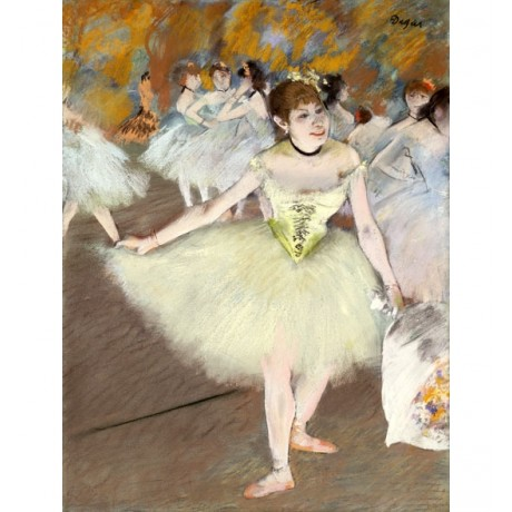 EDGAR DEGAS Sur La Scene BALLERINA curtsey performance tutu NEW CANVAS PRINT!!