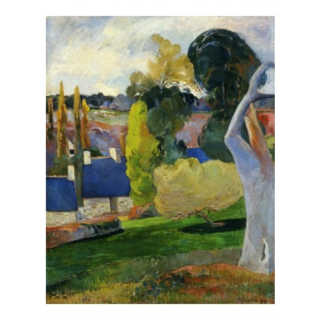 "PAUL GAUGUIN ""Farm In Brittany II"" Landscape ON CANVAS various SIZES, BRAND NEW"