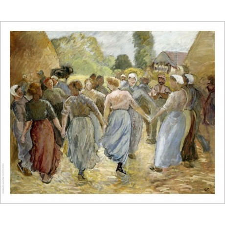 "CAMILLE PISSARRO ""Circle"" People Art CANVAS EDITION various SIZES available, NEW"