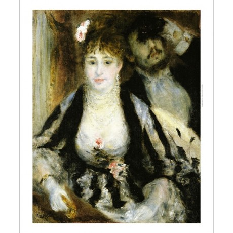 "PIERRE-AUGUSTE RENOIR ""Theatre Box"" Woman ON CANVAS various SIZES available, NEW"