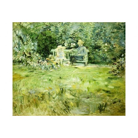 "BERTHE MORISOT ""Gardening Lesson"" people print NEW choose SIZE, from 55cm up"