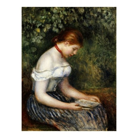 "PIERRE-AUGUSTE RENOIR ""Reader I"" CANVAS ART choose SIZE, from 55cm up"
