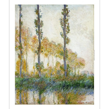 "CLAUDE MONET ""Three Trees, Autumn"" landscape print choose SIZE, from 55cm up"