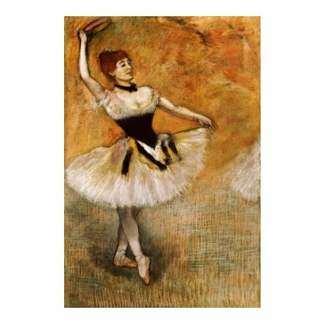 """EDGAR DEGAS """"Dancer With A Tambourine"""" CANVAS ART ! various SIZES available, NEW"""