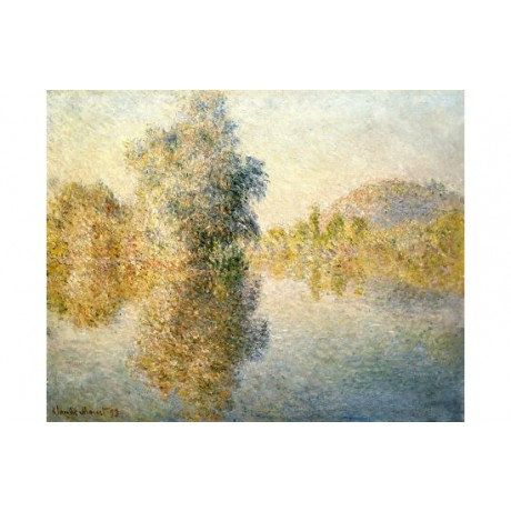 "CLAUDE MONET ""Early Morning On Seine At Giverny"" print various SIZES, BRAND NEW"