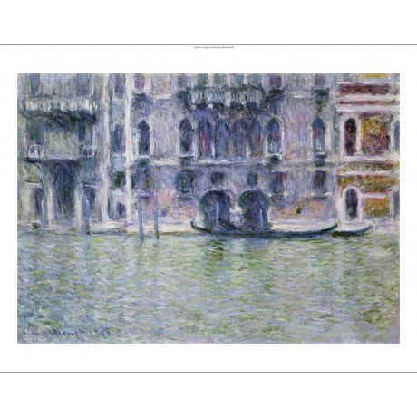 "CLAUDE MONET ""Le Palais Da Mula"" Venice print ON CANVAS various SIZES, BRAND NEW"