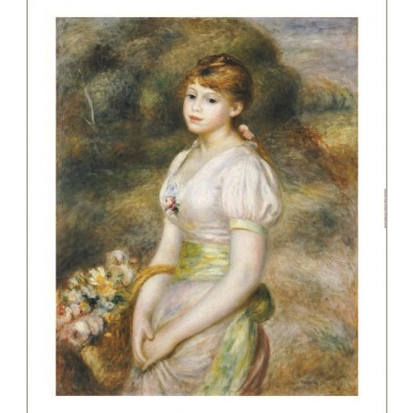 PIERRE AUGUSTE RENOIR Young Girl With Flowers PRINT new various SIZES, BRAND NEW