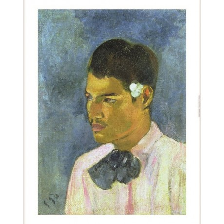 "PAUL GAUGUIN ""Young Man With A Flower"" CANVAS ART ! various SIZES available, NEW"