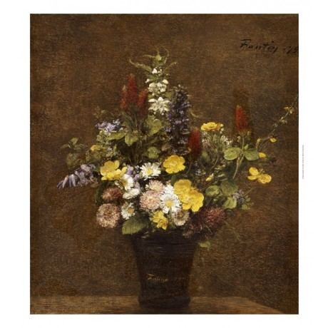 "HENRI FANTIN-LATOUR ""Wild Flowers"" Art CANVAS EDITION various SIZES, BRAND NEW"