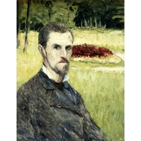 GUSTAVE CAILLEBOTTE Portrait of the Artist by Himself bearded MAN alone NEW!!!