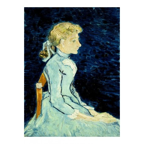 """VINCENT VAN GOGH """"Adeline Ravoux"""" print ON CANVAS choose SIZE, from 55cm up, NEW"""