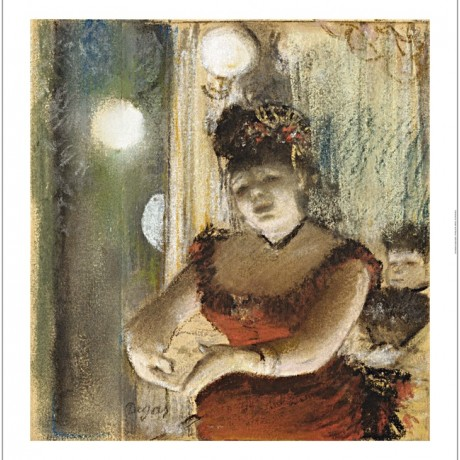 "EDGAR DEGAS ""Singer In a Cafe"" print ON CANVAS choose SIZE, from 55cm up, NEW"