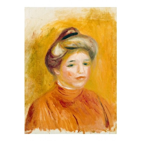 "PIERRE-AUGUSTE RENOIR ""Head Of A Woman"" Art Print NEW various SIZES available"