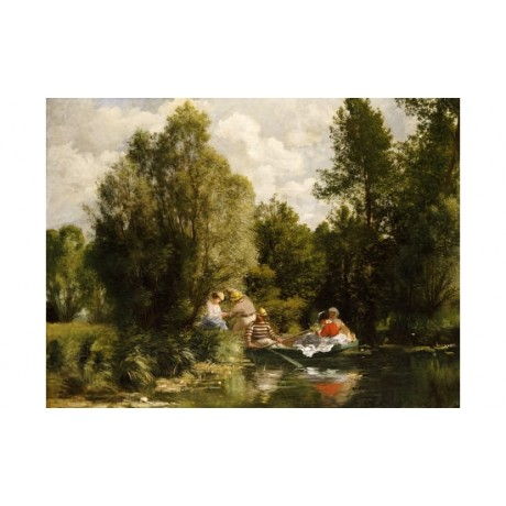 "PIERRE-AUGUSTE RENOIR ""Pond At Fees"" Boat Print NEW various SIZES available, NEW"