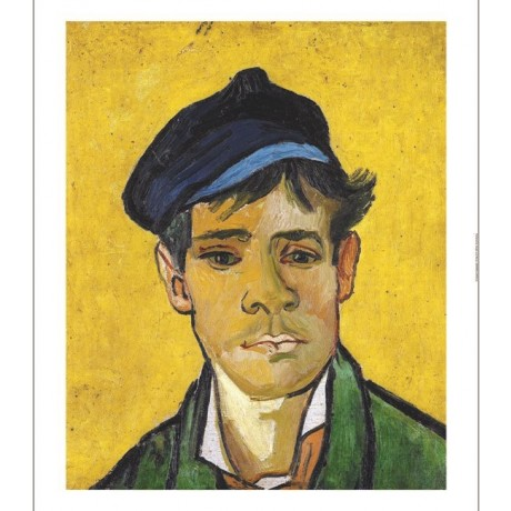 "VINCENT VAN GOGH ""Young Man In A Cap"" print ON CANVAS various SIZES, BRAND NEW"