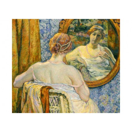 "THEO VAN RYSSELBERGHE ""Woman In A Mirror"" print NEW various SIZES available, NEW"
