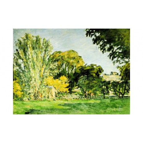 "PAUL CEZANNE ""Trees At Jas De Bouffan"" print ON CANVAS various SIZES, BRAND NEW"