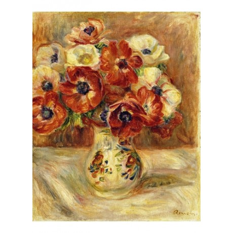"PIERRE-AUGUSTE RENOIR ""Still Life Anemones"" print NEW various SIZES, BRAND NEW"
