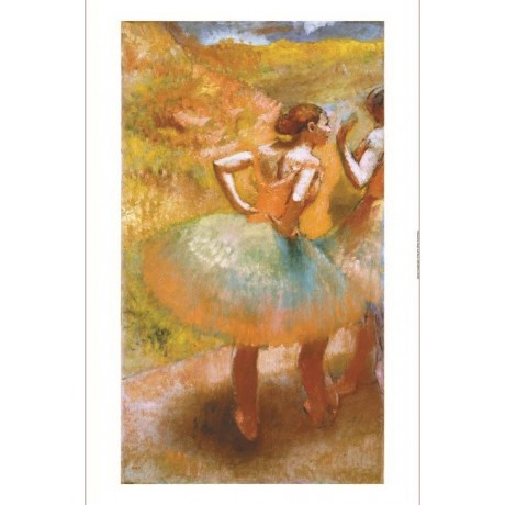 EDGAR DEGAS Two Dancers In Green Skirts print ON CANVAS various SIZES, BRAND NEW