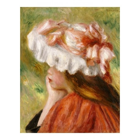 PIERRE-AUGUSTE RENOIR Young Girl In Red Hat PRINT NEW various SIZES, BRAND NEW