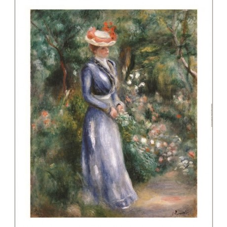 PIERRE-AUGUSTE RENOIR Woman In The Garden ON CANVAS various SIZES available, NEW