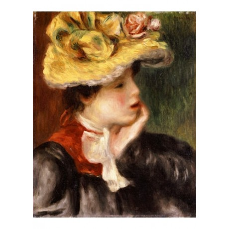 PIERRE-AUGUSTE RENOIR Portrait Woman Hat print NEW choose SIZE, from 55cm up