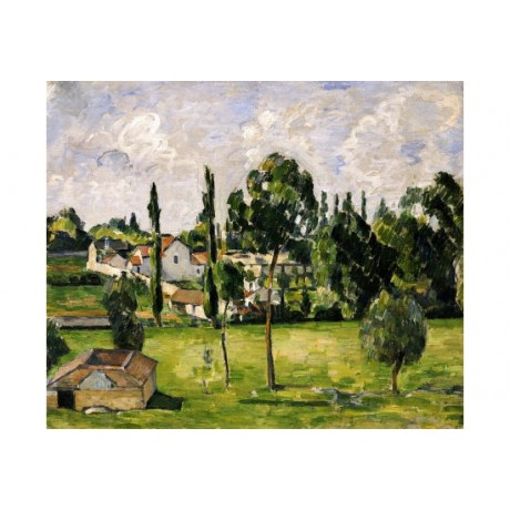 "PAUL CEZANNE ""Paysage Avec Conduite D'Eau"" CANVAS ART various SIZES, BRAND NEW"