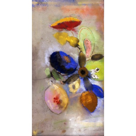 "ODILON REDON ""Flowers"" print NEW ON CANVAS choose SIZE, from 55cm upwards, NEW"