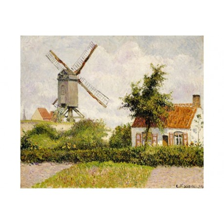 "CAMILLE PISSARRO ""Windmill at Knock, Belgium"" PRINT various SIZES available, NEW"