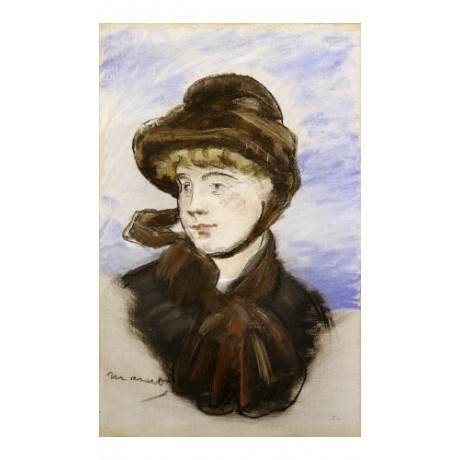 "EDOUARD MANET ""Young Girl In A Brown Hat"" print NEW various SIZES available, NEW"
