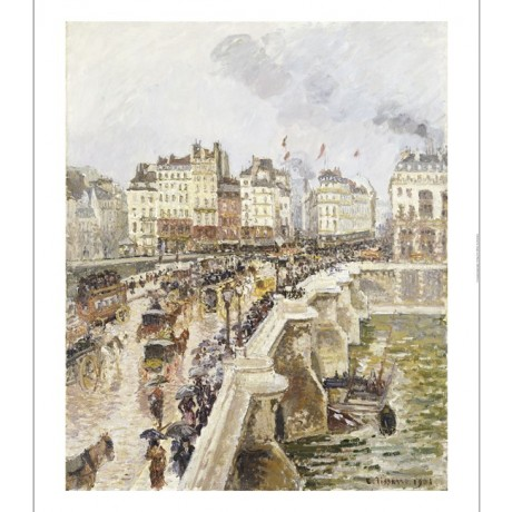 "CAMILLE PISSARRO ""Pont Neuf"" Paris print ON CANVAS choose SIZE, from 55cm up"
