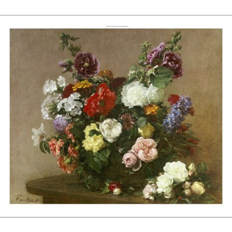 "HENRI FANTIN-LATOUR ""A Bouquet Of Mixed Flowers"" PRINT various SIZES, BRAND NEW"