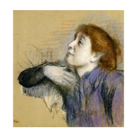 "EDGAR DEGAS ""Bust Of A Woman"" print ON CANVAS choose your SIZE, 55cm to X LARGE"