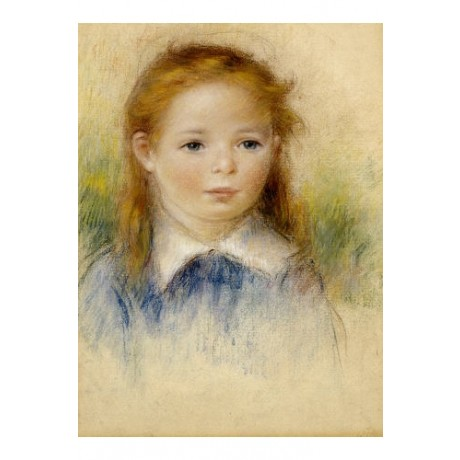 "PIERRE-AUGUSTE RENOIR ""Portrait De Fillette"" print choose SIZE, from 55cm up"
