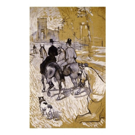 HENRI DE TOULOUSE-LAUTREC Riders PRINT ON CANVAS choose SIZE, from 55cm up, NEW