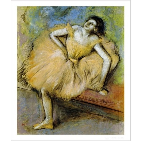 "EDGAR DEGAS ""Danseuse Assise"" Art CANVAS EDITION choose SIZE, from 55cm up, NEW"